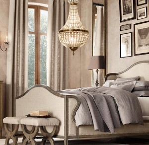 French Empire Crysal Chandelier Bedroom