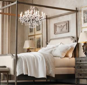 Rococo Chandelier Bedroom