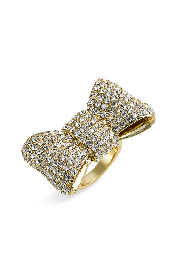 "Kate Spade New York ""all wrapped up"" Pavé Bow Ring"