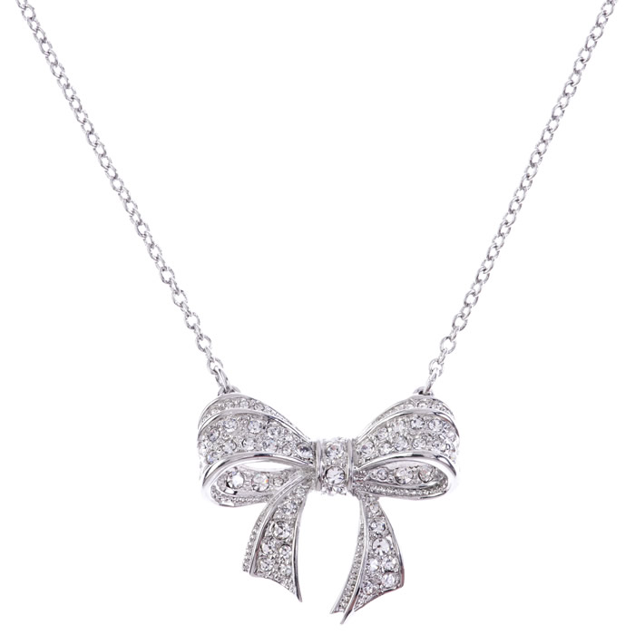 Ted Baker Pavé Bow Necklace