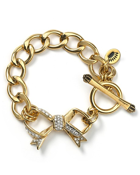 Juicy Couture Pavé Bow Starter Bracelet