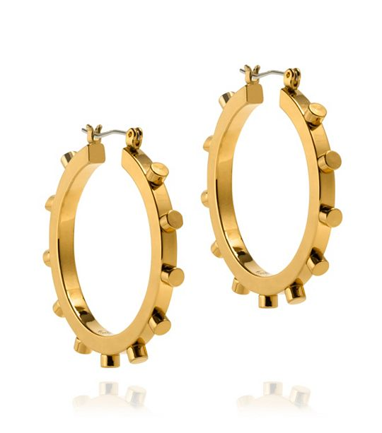 Rivet Hoop Earrings