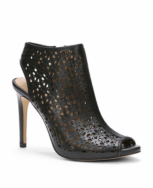 Ann Taylor Billie Cutout Leather Peeptoe Booties