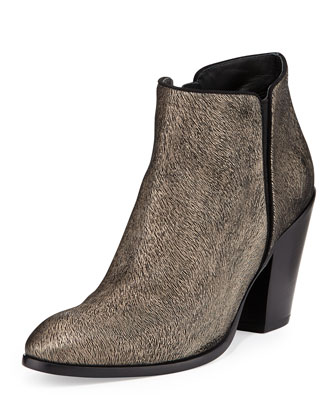 Guiseppe Zanotti Metallic Textured Ankle Boot